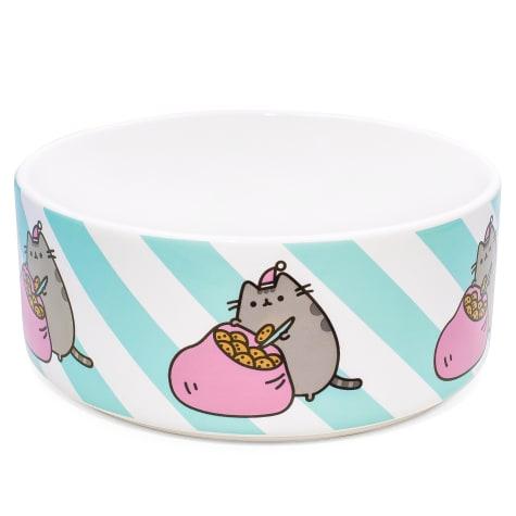Pusheen Sack of Cookies Ceramic Donut Cat Bowl
