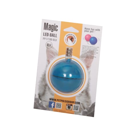 PetPals Group Blue Interactive LED Cat Ball