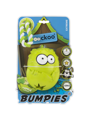 PetPals Group Green Giant Bumpies with Apple Flavor Dog Toy
