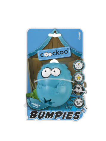 PetPals Group Blue Giant Bumpies with Mint Flavor Dog Toy