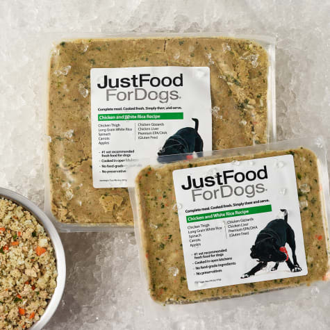 JustFoodForDogs Daily Diets Chicken & White Rice Frozen Dog Food