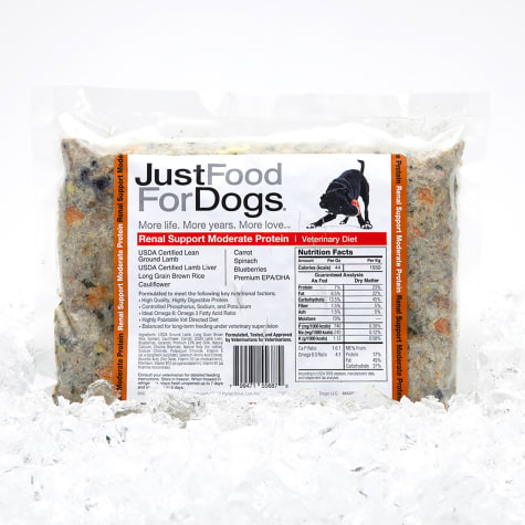 JustFoodForDogs Vet Support Diets Renal Support, Moderate Protein Frozen Dog Food