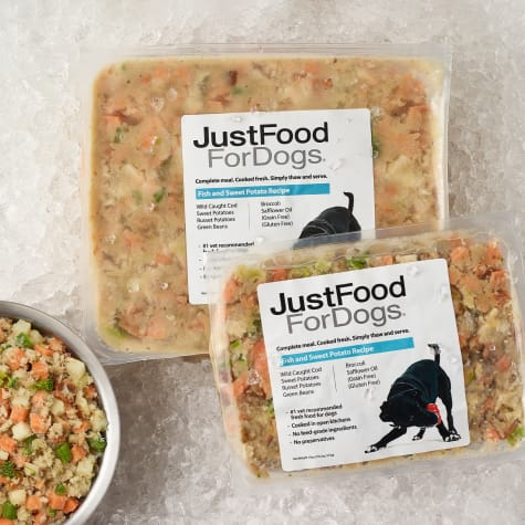 JustFoodForDogs Daily Diets Fish & Sweet Potato Frozen Dog Food
