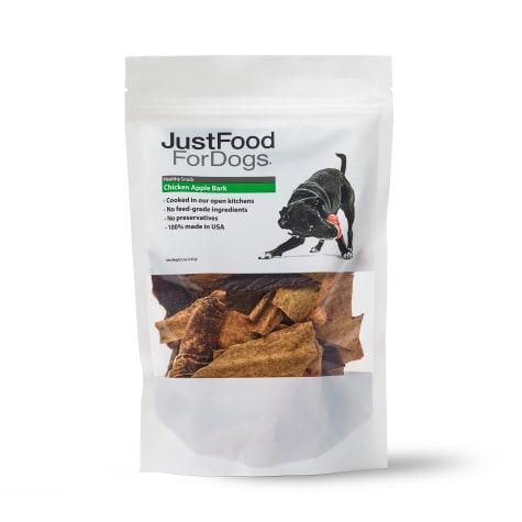 JustFoodForDogs Snacks Chicken Apple Bark Dog Treats