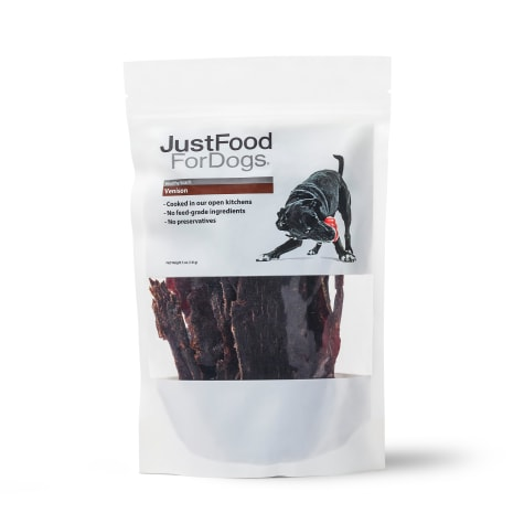 JustFoodForDogs Snacks Venison Cap Steak Dog Treats