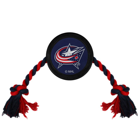 Pets First Columbus Blue Jackets Hockey Puck Toy for Dogs