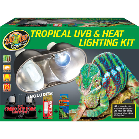 Zoo Med Tropical UVB & Heat Lighting Dual Kit