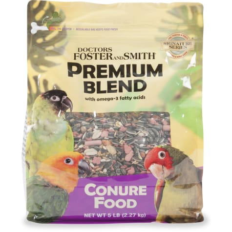 Drs. Foster and Smith Premium Blend Conure Food with Omega-3 Fatty Acids