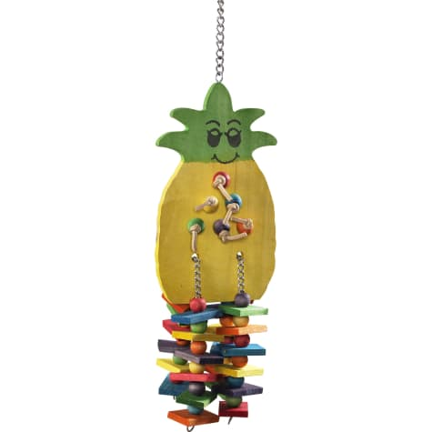 Caitec Paradise Wooden Pineapple Hanging Bird Toy