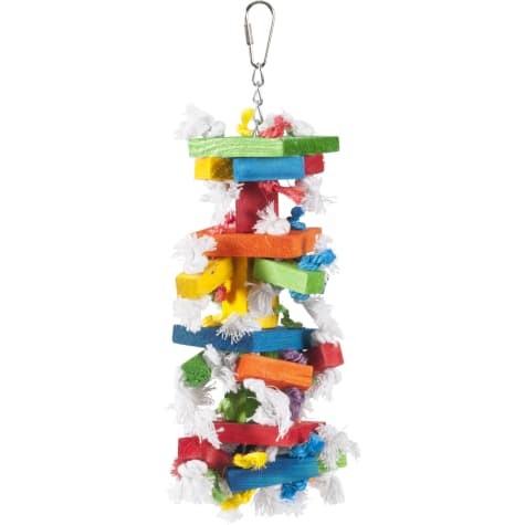 Caitec Paradise Knots N Blocks Hanging Bird Toy