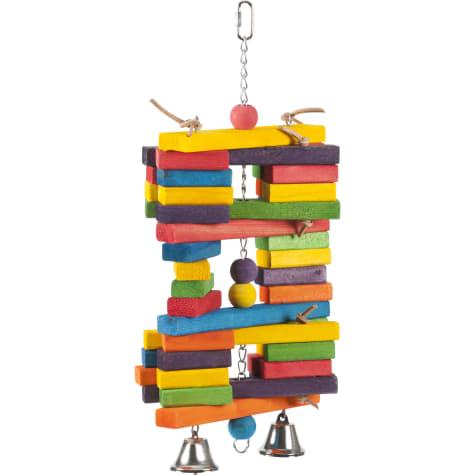 Super Bird Creations Wood Pile Hanging Bird Toy