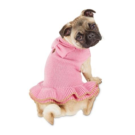 Bond & Co. Pink Dog Sweater Dress