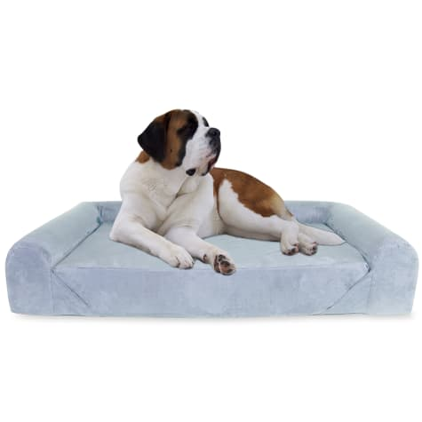 Kopeks Orthopedic Memory Foam Grey Sofa Bed for Dogs