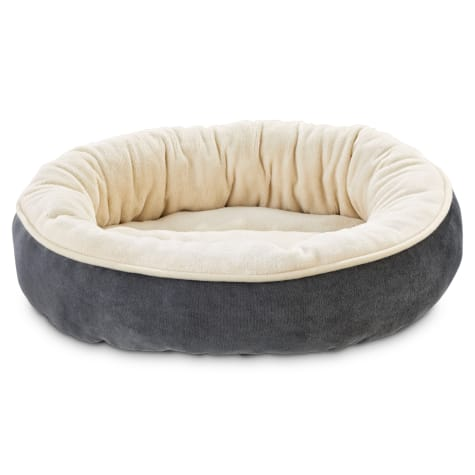 Animaze Gray Circle Bolster Dog Bed