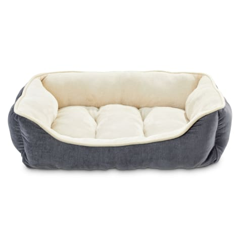 Animaze Gray Bolster Dog Bed