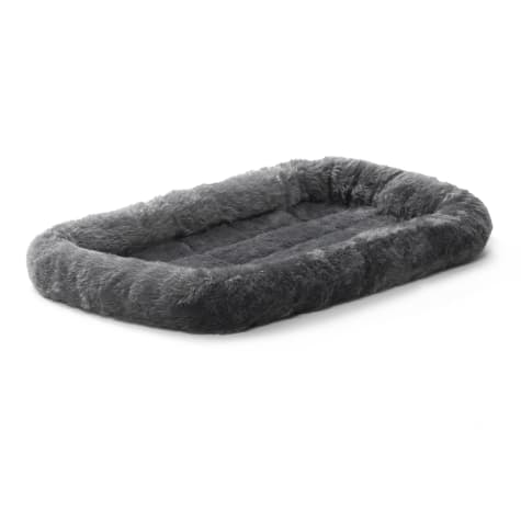 Midwest Quiet Time Bolster Gray Dog Bed