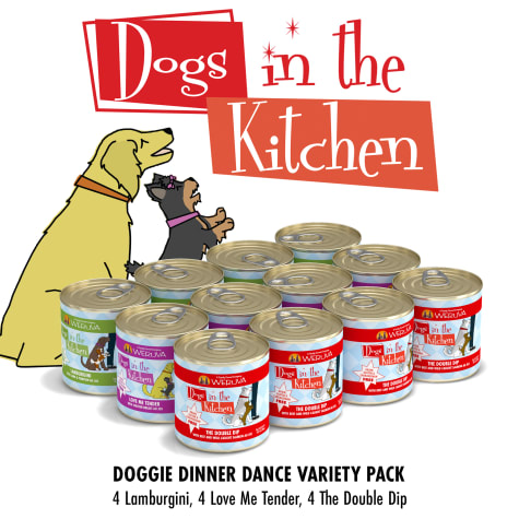 Dogs in the Kitchen Doggie Dinner Dance Variety Pack Wet Dog Food
