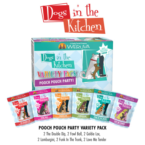 Dogs in the Kitchen Pooch Pouch Party! Variety Pack Wet Dog Food