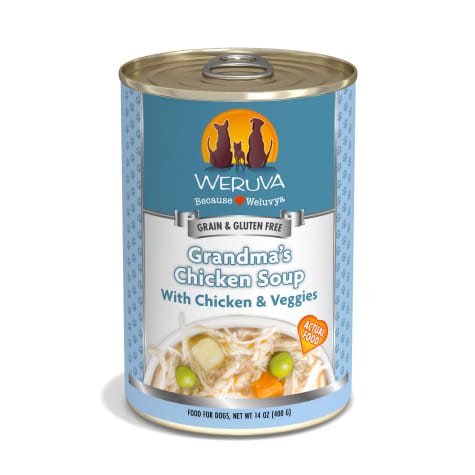 Weruva Classics Grandma's Chicken Soup with Chicken & Veggies Wet Dog Food