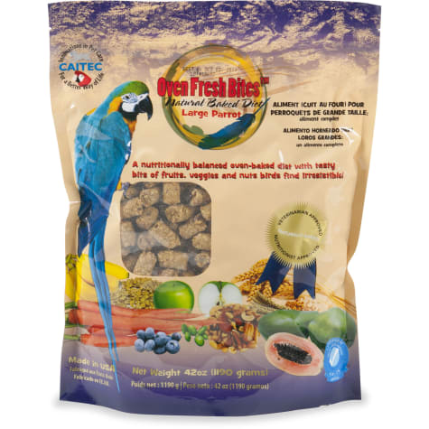 Caitec Oven Fresh Bites Natural Baked Diet for Large Parrots Bird Food