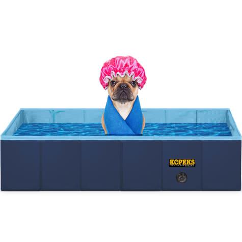 Kopeks Rectangular Outdoor Pet Blue Swimming Pool