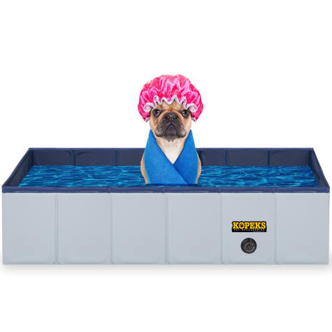 Kopeks Rectangular Outdoor Pet Grey Swimming Pool