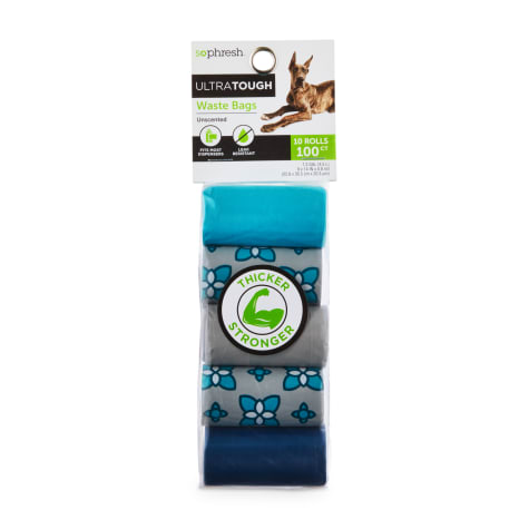 So Phresh Flower-Print Ultra-Tough Waste Bag Refill Rolls for Dogs