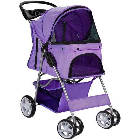 Paws & Pals EZ Walk 4 Wheel Purple Pet Stroller