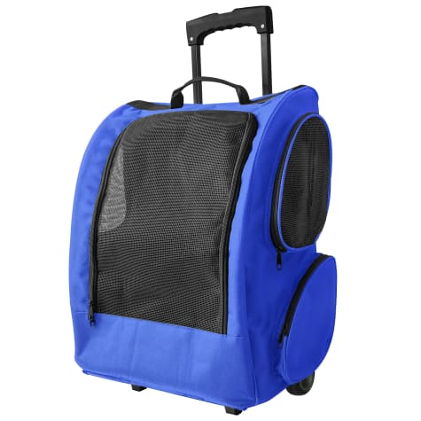 Paws & Pals Blue Rolling Backpack
