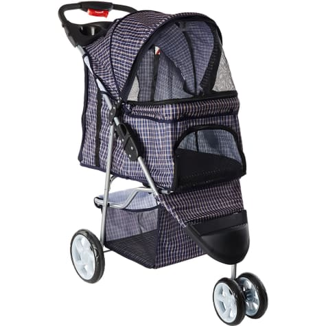 Paws & Pals EZ Folding Navy Pet Stroller