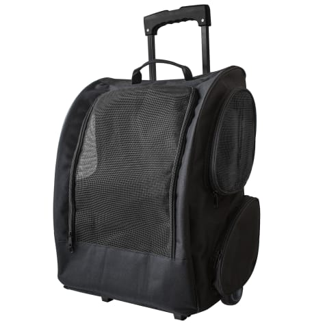 Paws & Pals Black Rolling Backpack