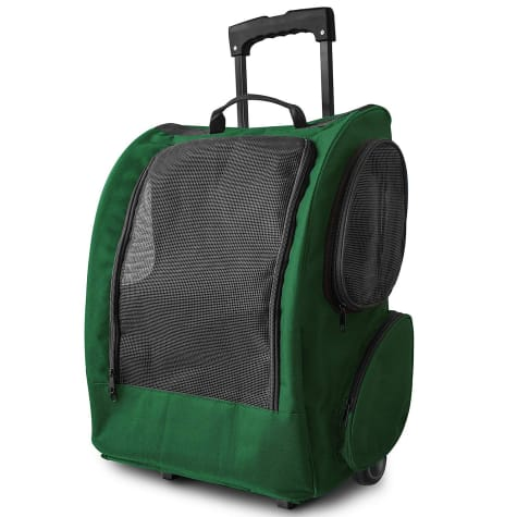 Paws & Pals Green Rolling Backpack