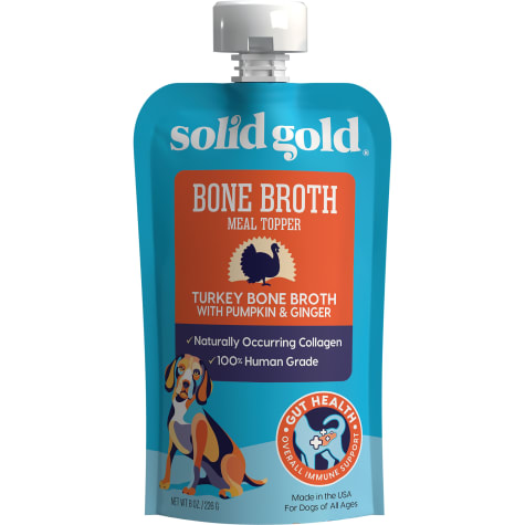 Solid Gold Turkey Bone Broth with Pumpkin & Ginger Topper with Collagen Wet Dog Food