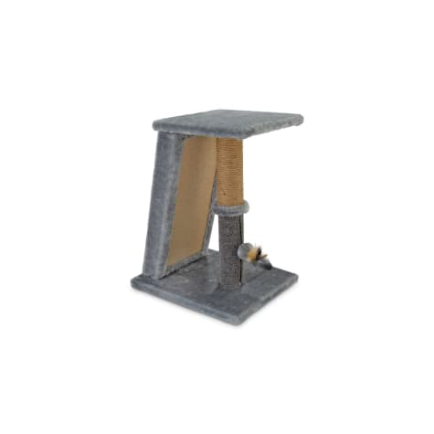 You & Me Raised Runway Cat Scratch Post With Refillable Corrugated Cardboard