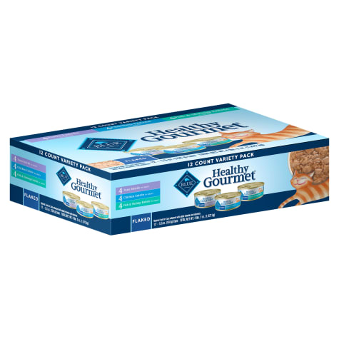 Blue Buffalo Healthy Gourmet Adult Flaked Variety Pack Cat Food