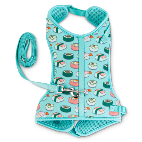 Good2Go Sushi Print Big Cat Harness and Leash Set