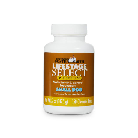 Drs. Foster and Smith Lifestage Select Premium Small Dog Multivitamin & Mineral Supplement
