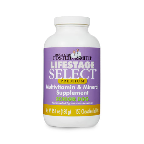 Drs. Foster and Smith Lifestage Select Premium Senior Dog Multivitamin Supplement