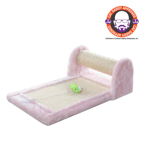 Armarkat Premium Pink Rolling Scratcher with Toy for Cats