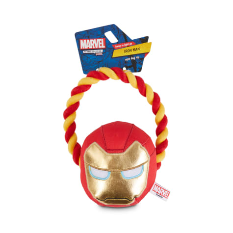 Marvel Avengers Iron Man Helmet Light Up Rope Dog Toy