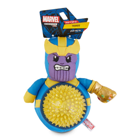 Marvel Avengers Thanos LED Spiny Ball Plush Dog Toy