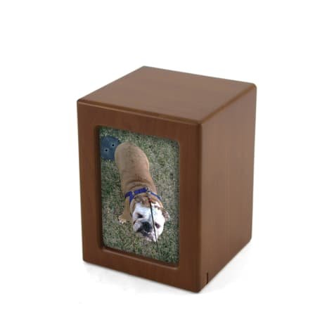 A Pet's Life Personalized Medium Photo Frame Cremation Urn, Honeynut, Pet Memorial for Pet Weight Up to 195 lbs.