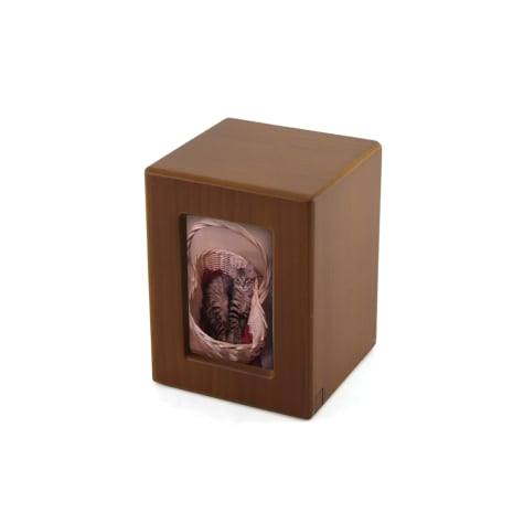 A Pet's Life Personalized Small Photo Frame Cremation Urn, Honeynut, Pet Memorial for Pet Weight Up to 195 lbs.