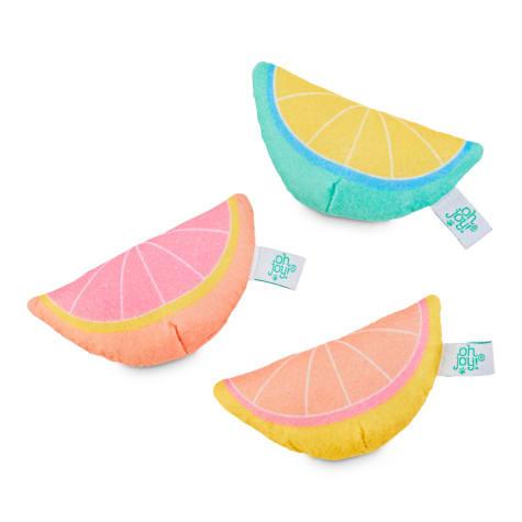 Oh Joy! Oh What Fun! Catnip Citrus Cat Toy Set
