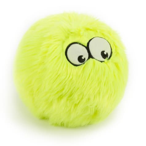 goDog Lime Furballz with Chew Guard Technology Durable Plush Squeaker Dog Toy