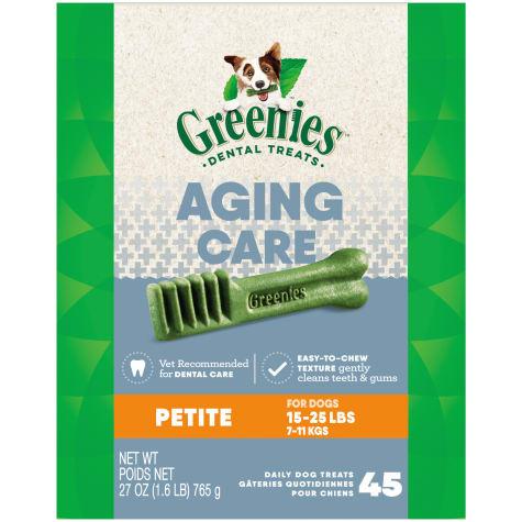 Greenies Aging Care Petite Size Dental Dog Treats
