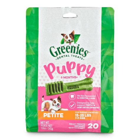 Greenies Puppy 6+ Months Petite Size Dental Treats