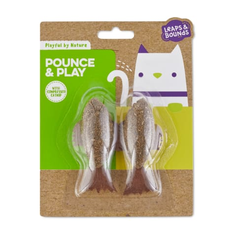 Leaps & Bounds Playful by Nature Pounce & Play Catnip Fish Cat Toys