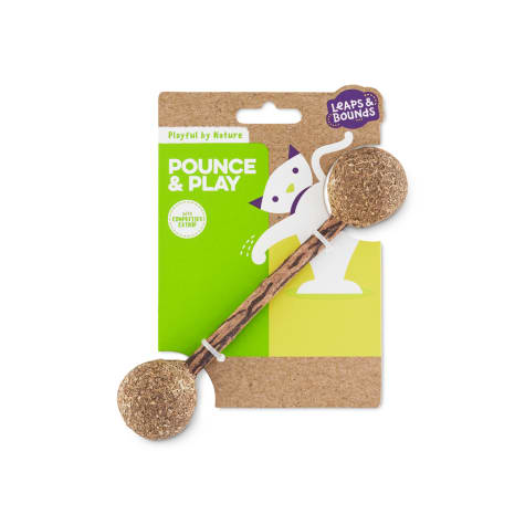Leaps & Bounds Playful by Nature Pounce & Play Catnip Cat Dumbbell Toy