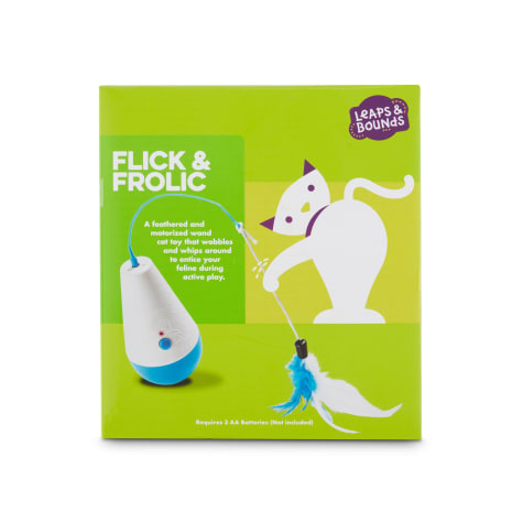 Leaps & Bounds Flick & Frolic Electronic Wobble Wand Cat Toy